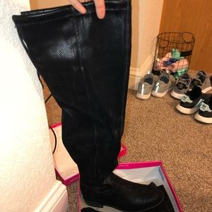 Black Thigh high boots NWT
